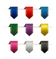 set of colored vertical ribbons vector image vector image