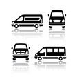 Set of transport icons - Cargo van vector image