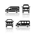 set transport icons - cargo van vector image