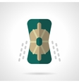 Sport protective accessory flat color icon vector image vector image