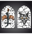 stained glass window vector image