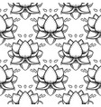 stylish lotus flowers seamless pattern ayurveda vector image