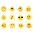 Sun Emoticons vector image vector image