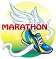 The emblem of the marathon vector image