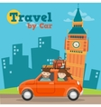 travel car in england with big ben vector image vector image