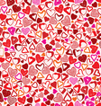 Valentine background different hearts seamless vector image vector image
