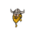 Viking Warrior Head Retro vector image vector image