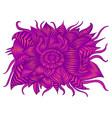 vintage psychedelic alien flower bright purple vector image vector image