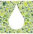 Water drop symbol with eco friendly icon vector image vector image