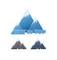 way to top set of emblems with mountains vector image vector image