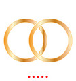 wedding rings icon color fill style vector image vector image