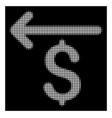 white halftone cashback icon vector image vector image
