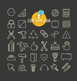 different construction icons collection web and vector image