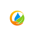 save water ecology abstract logo vector image