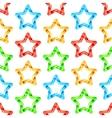 Folded Stars Seamless Pattern vector image