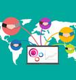 business concept people handshaking social network vector image