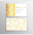 luxury business card gold and white horizontal vector image