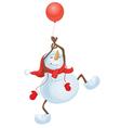 snowman balloon vector image