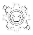 angry gear kawaii icon image vector image vector image
