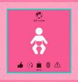 baby symbol icon vector image vector image