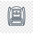backpack concept linear icon isolated on vector image