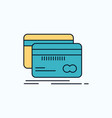 banking card credit debit finance flat icon green vector image