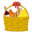 Basket with product vector image vector image
