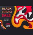 black friday final discounts special sale vector image vector image