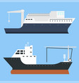 cargo vessels and tankers shipping delivery bulk vector image vector image