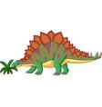 cartoon stegosaurus isolated on white background vector image vector image