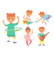 children playing different types home vector image vector image