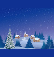 christmas eve country vector image