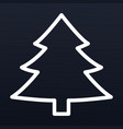 christmas fir tree icon outline style vector image vector image