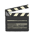 clapperboard cinema icon image vector image vector image