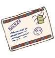 Closed Envelope with Post Stamp vector image vector image