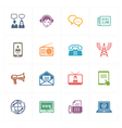 Communication Icons Set 2 - Colored Series vector image vector image