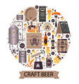 craft beer made in premium brewery circle banner vector image