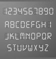 digital 3d display time numbers and letters vector image