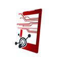 digital electronics logo design design vector image vector image