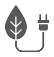 eco power glyph icon ecology and energy vector image vector image