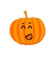 emotional cartoon pumpkin drawing vector image vector image