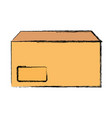 envelope yellow vector image