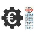 Euro Development Gear Icon With 2017 Year Bonus vector image vector image