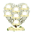 family tree in heart shape vector image vector image