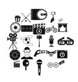 general producer icons set simple style vector image vector image