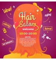 Hair salon and poster vector image vector image