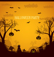 halloween party orange poster vector image