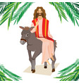 happy religion holiday palm sunday before easter vector image vector image