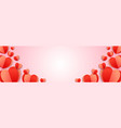 happy valentines day paper heart background vector image vector image