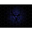 HexMetal bio blue10092014 vector image
